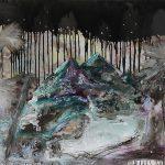 The Island Series, Öl und Lack auf Leinwand, 40 x 50 cm, 2019