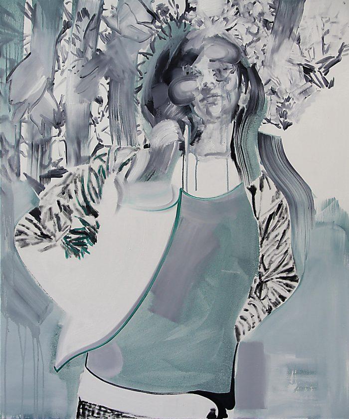 Neo-Hippie, Öl auf Leinwand, 120 x 10 cm, 2019