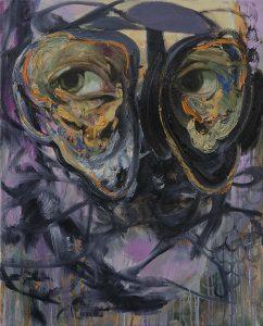 Selbstportrait, Öl auf Leinwand, 100 x 80 cm, 2019