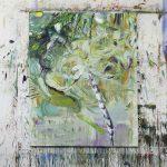 Studioview Tropic, The island series, Oil on canvas, 160 x 120 cm, 2019