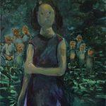 Little Miss Rabbit, Öl auf Leinwand, 100 x 80 cm, 2019