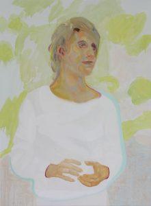 Portrait S., Öl auf Leinwand, 80 x 60 cm, 2008/2019