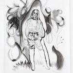 Coco, Kohle, Pigment, Bleistift, 200 x 150 cm, 2019