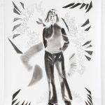 Girl with two dicks, Kohle, Pigment, Bleistift, 200 x 150 cm, 2019