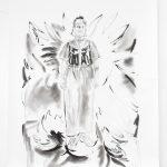 Leo, Kohle, Pigment, Bleistift, 200 x 150 cm, 2019