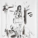 Wenke, Kohle, Pigment, Bleistift, 200 x 150 cm, 2019