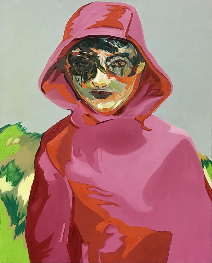 Girl in pink hoody, Oil on canvas, 100 x 80 cm, 2006