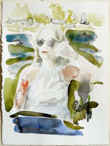ortrait of my mother in italy, Watercolour, 38 x 28 cm, 2019