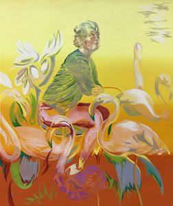 Flamingo Setting, Oil on canvas, 160 x 130 cm, 2019