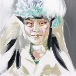Woman in furs, Oil on canvas, 120 x 100 cm, 2020