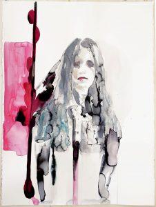 Portrait of a woman with a prosthesis, Watercolour, 76 x 57 cm, 2019