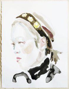 Portrait of Huhan Lee, Watercolour, 38 x 28 cm, 2020