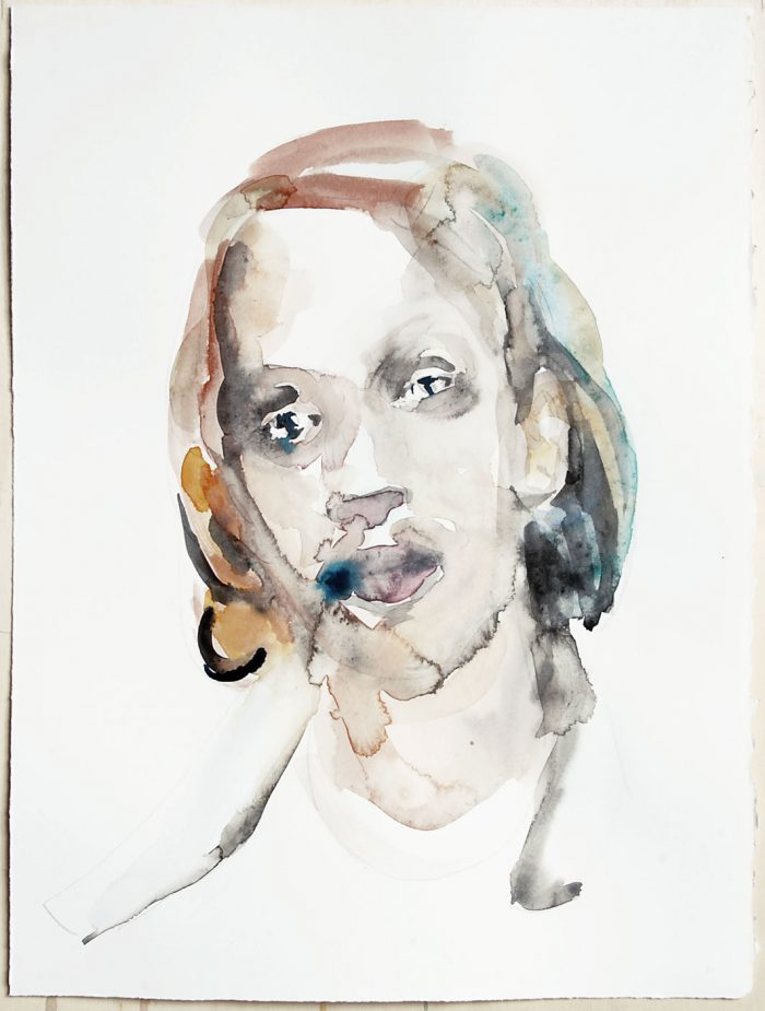 Portrait of a young man, watercolour, 38 x 28 cm, 2020