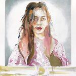 Sie ist ein Model, Oil on Canvas, 160 x 130 cm, 2020