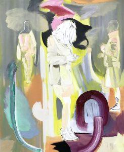 Les Danseurs, Öil on canvas, 160 x 130 cm, 2019