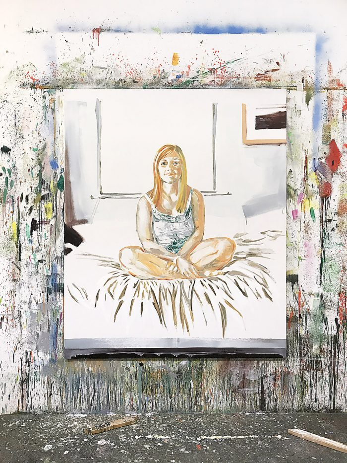 Portrait of a young woman, Oil on canvas, 160 x 130 cm, 2020
