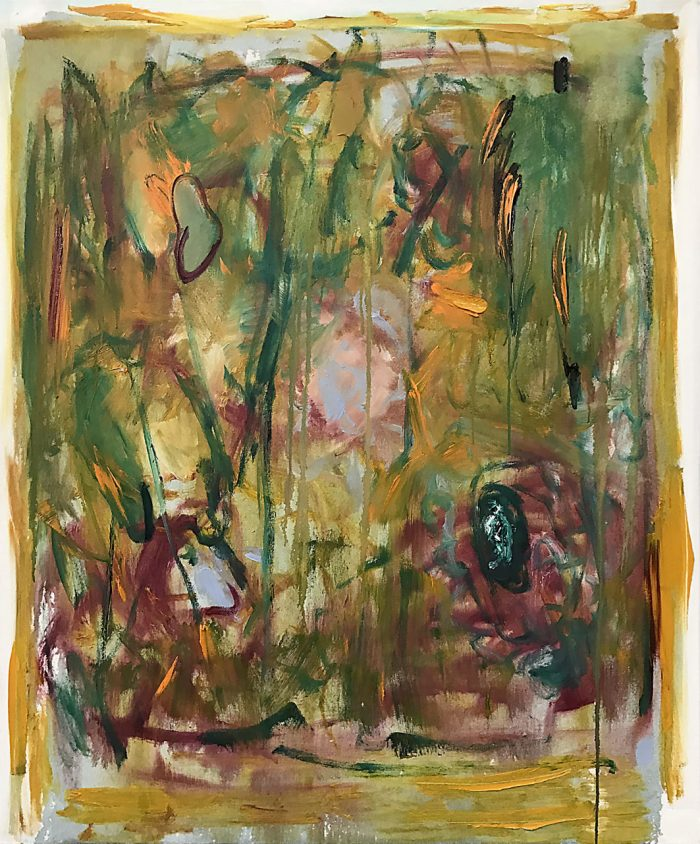 Indischer Garten, Oil on canvas, 120 x 100 cm, 2020