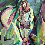 Girl in Parc des Eaux-Vives, Oil on canvas, 120 x 100 cm, 2020