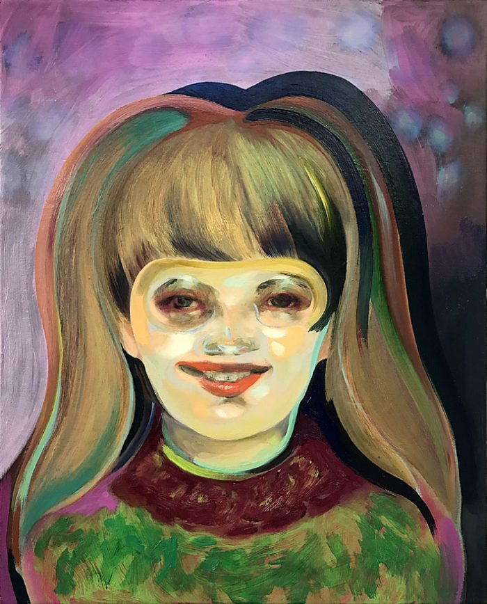 Girl with funny haircut, Oil on canvas, 50 x 40 cm, 2021