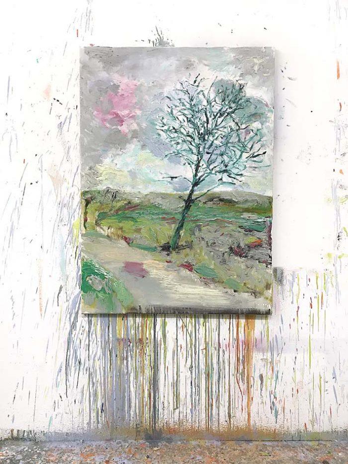 Apple tree, Oil on canvas, 110 x 80 cm, 2021