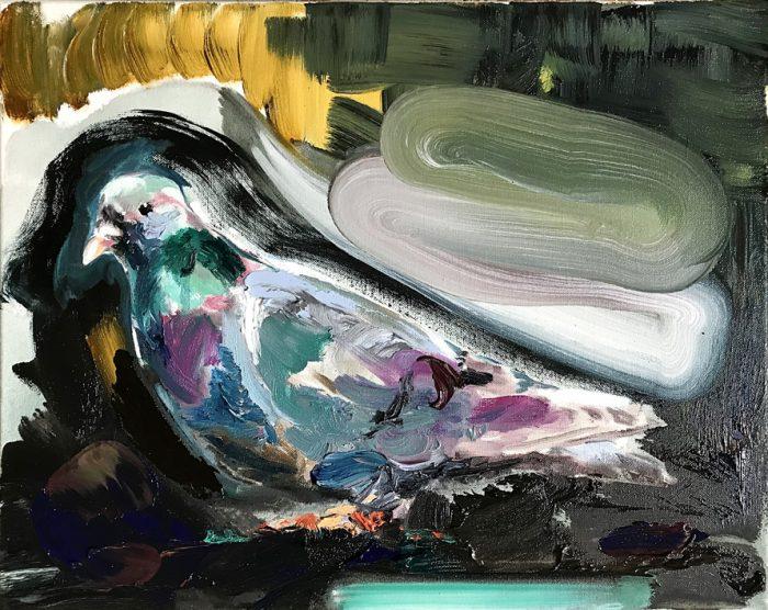 Pidgeon, Oil on canvas, 40 x 50 cm, 2021