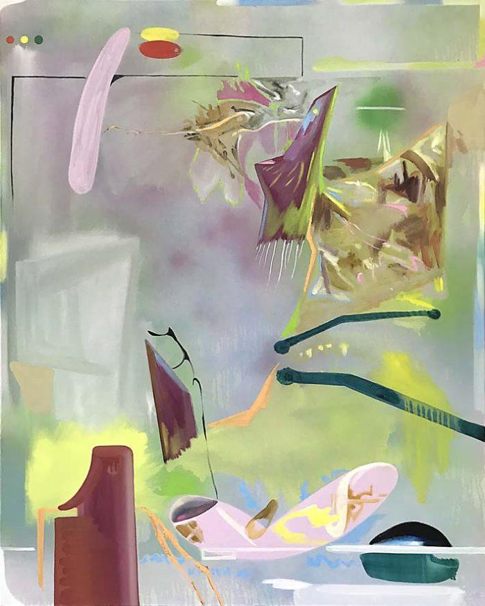 Pastorale, Oil and enamel on canvas, 150 x 120 cm, 2021
