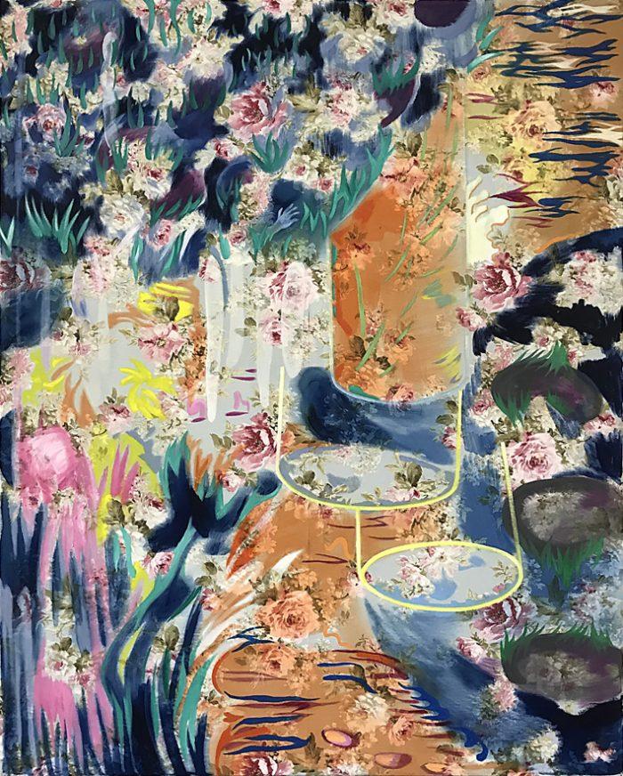 Reset Erinnerungsspeicher 2 Oil on print, 150 x 120 cm, 2021