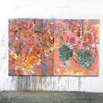 Plant cascades, Oil on canvas, 150 x 240 cm, 2021 studioview