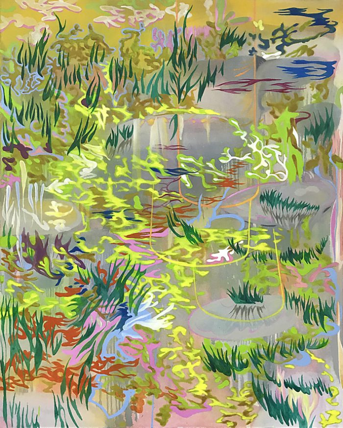 Swamp, Oil on canvas, 150 x 120 cm, 2021