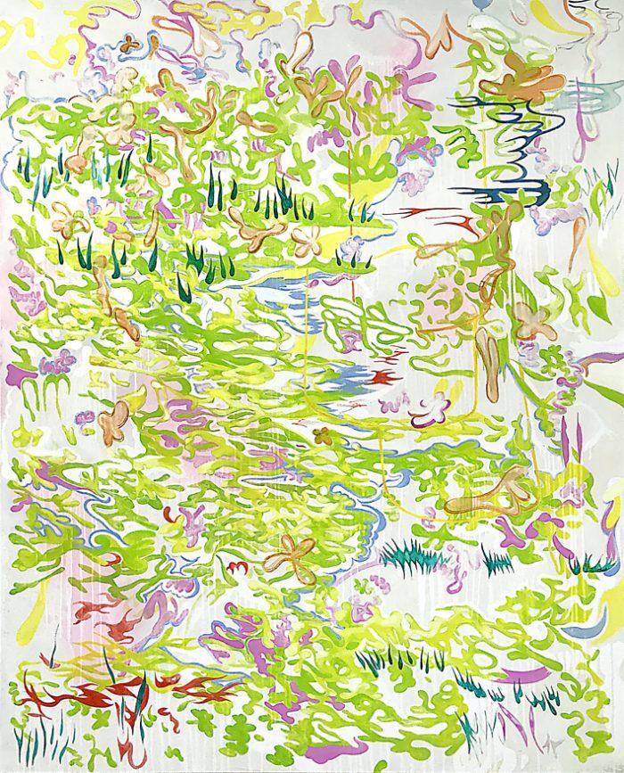 Waterlillies, Oil on canvas, 200 x 170 cm, 2021