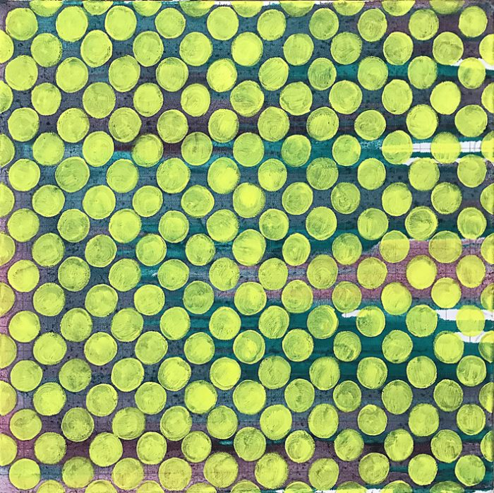 Meadow, Oil on Nylon, 40 x 40 cm, 2021